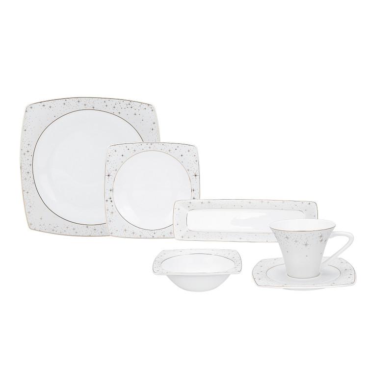 Karaca Fine Pearl New Antares 26 Parça 6 Kişilik İnci Kahvaltı Seti Kare