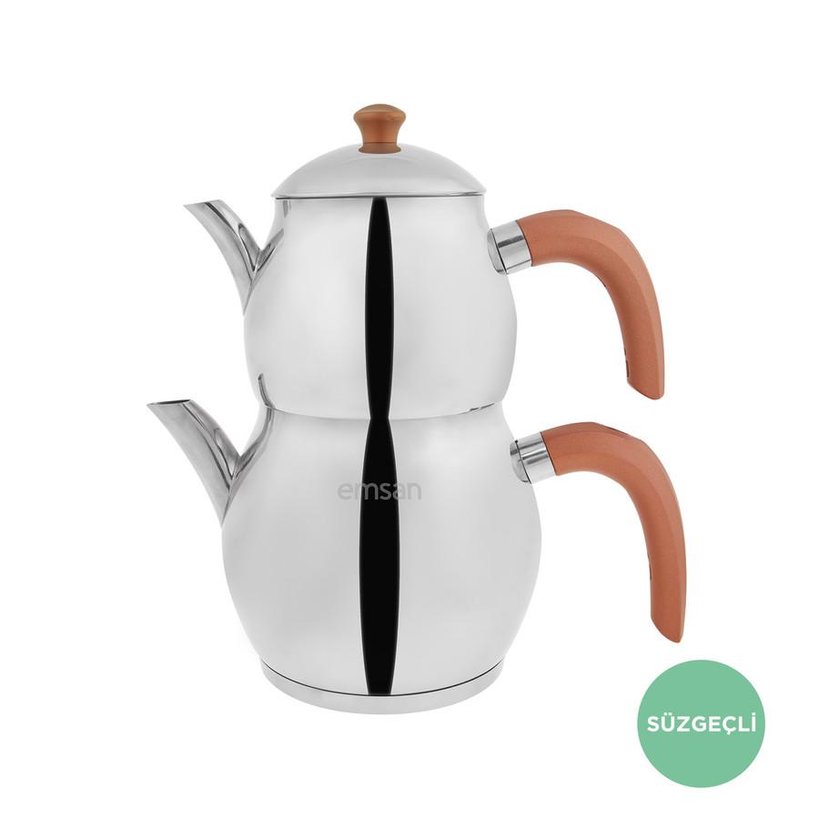 Emsan Cemre Bronz Çaydanlık Takımı