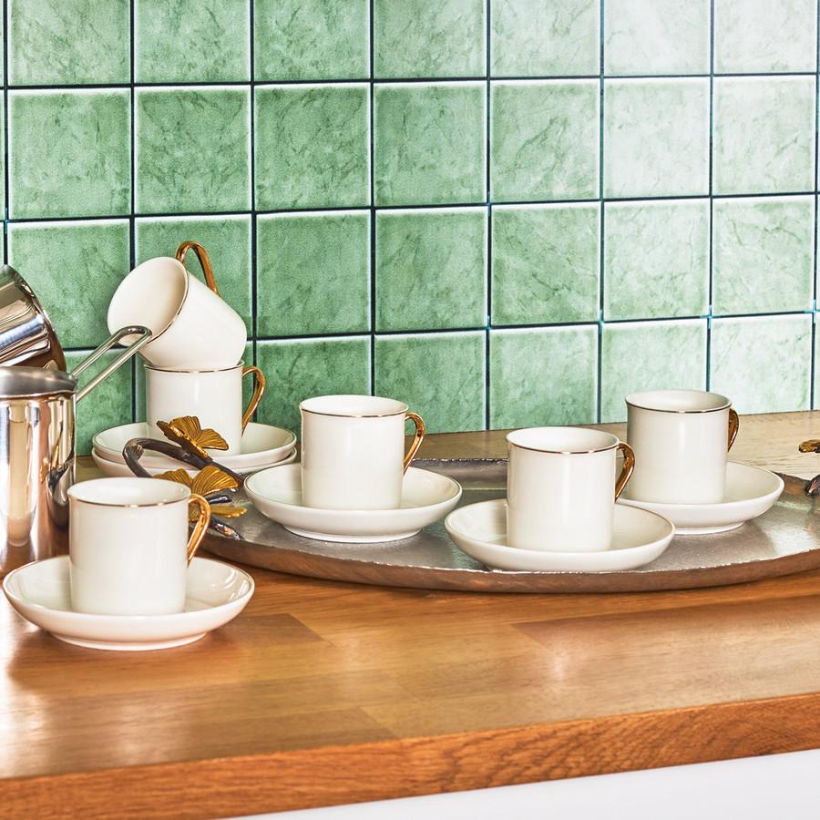 Emsan Royal Gold 6 Kişilik Kahve Fincan Takımı
