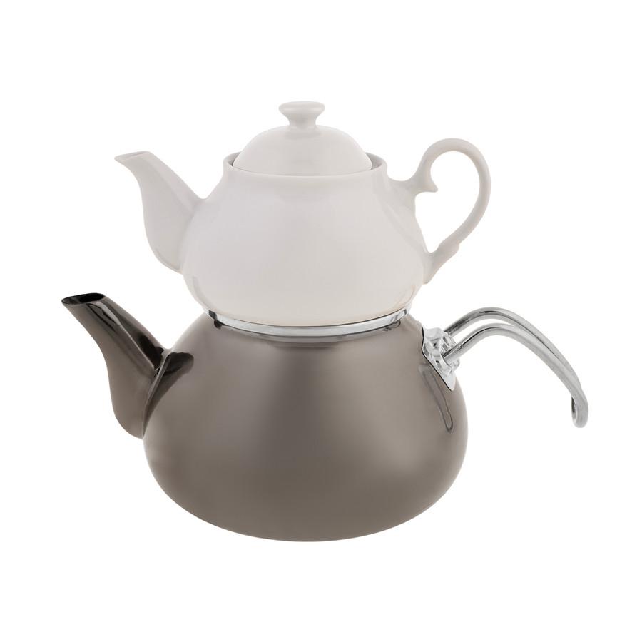 Emsan Celine Emaye Antrasit Çaydanlık Takımı