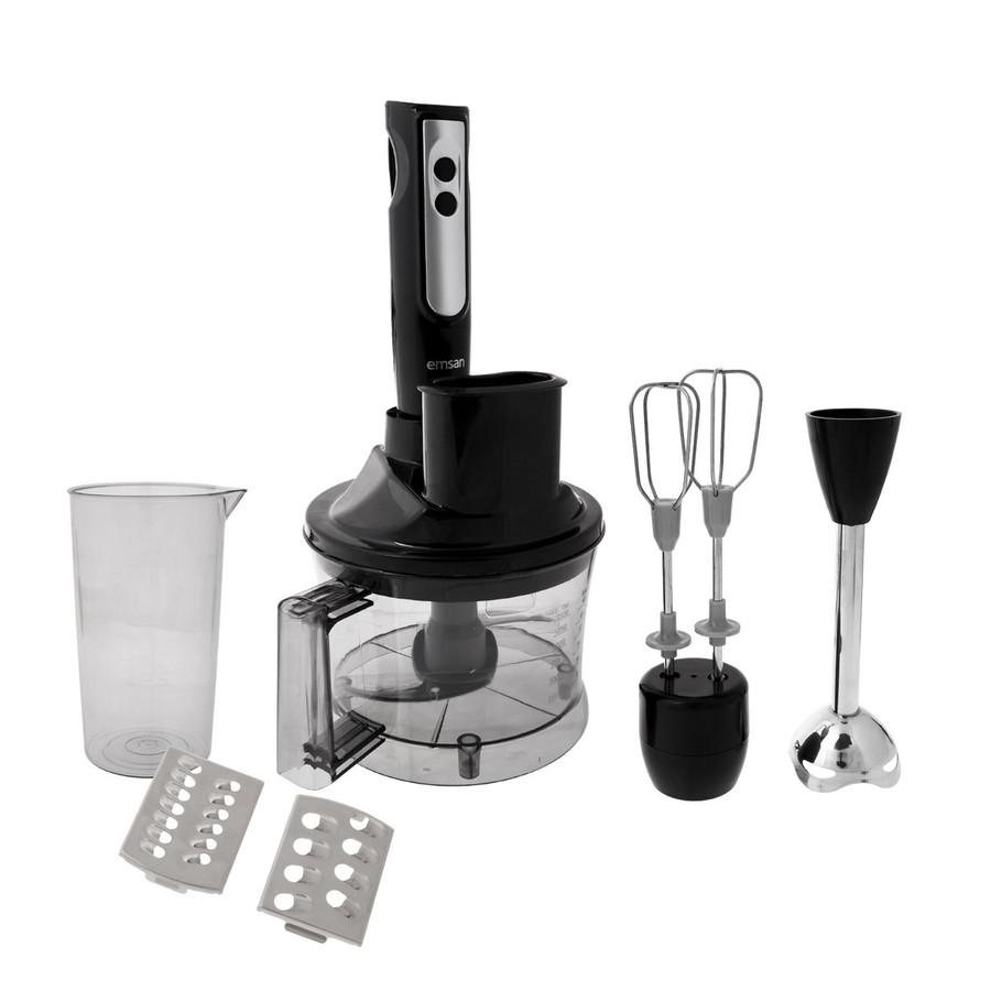 Emsan Powerpack Siyah Mutfak Robotu