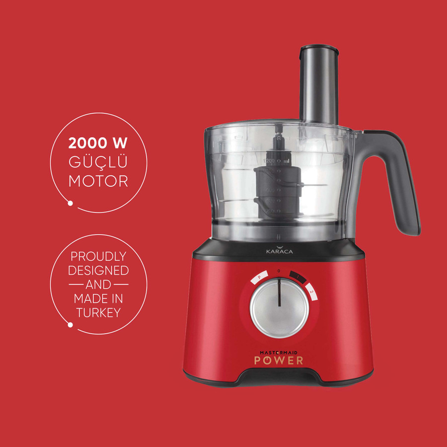 Karaca Mastermaid Power Multifunctional 10 in 1 Imperial Red Gıda Hazırlama Seti 2000w