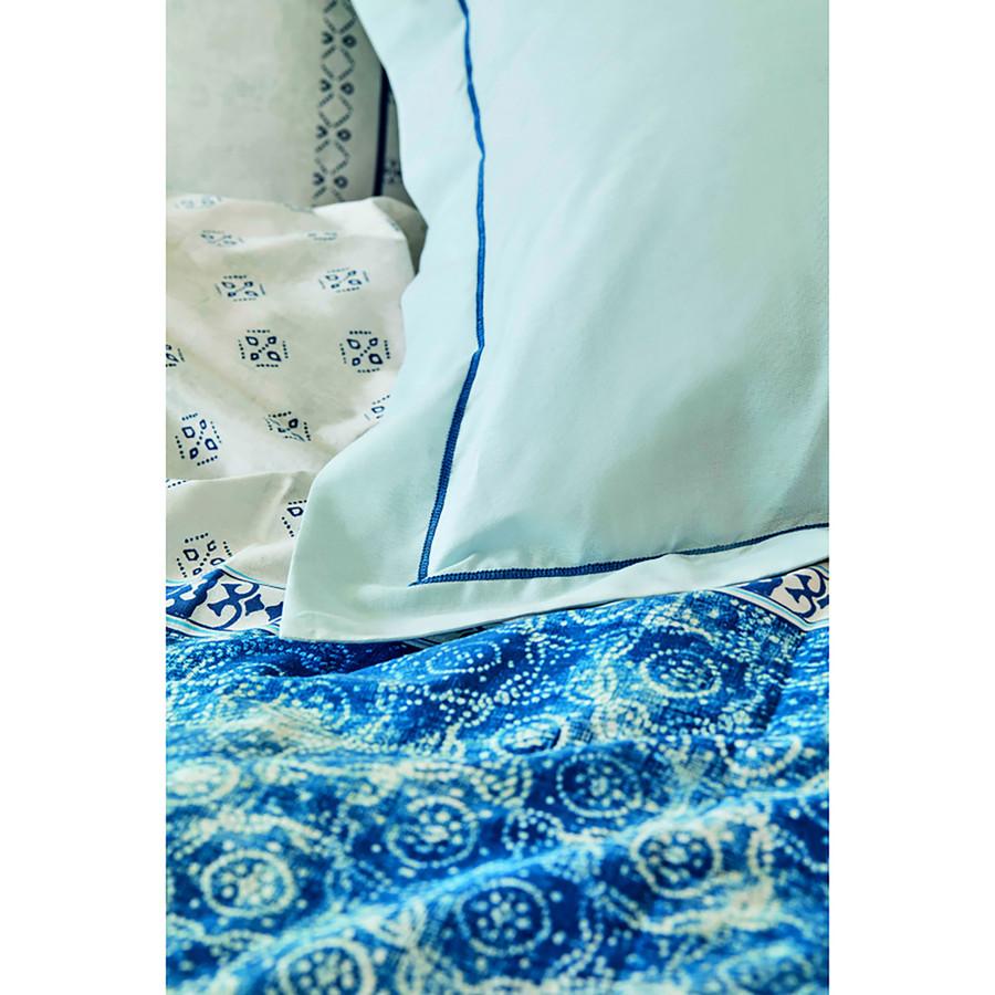 Karaca Home Costa Mavi %100 Pamuk Çift Kişilik Nevresim Takımı