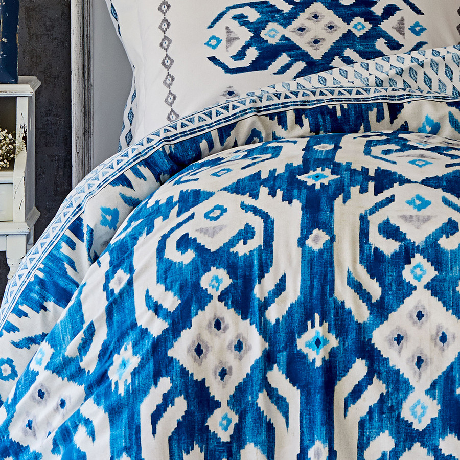 Karaca Home Neos Mavi Pamuk Çift Kişilik Nevresim Takımı