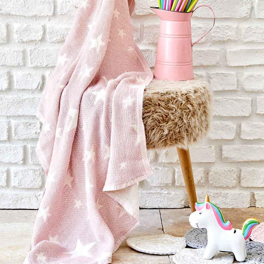 Karaca Home Baby Star Pembe Bebek Pikesi