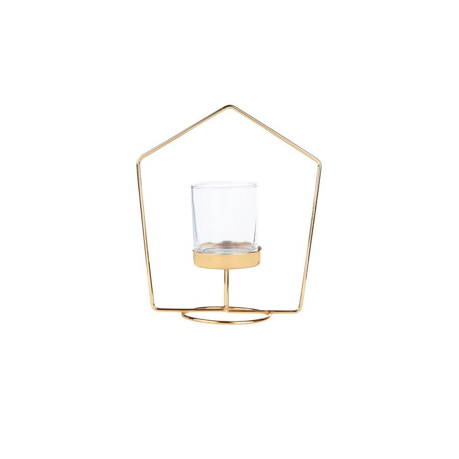 Karaca Home Geometri 2li Mumluk Seti Gold 10x19cm