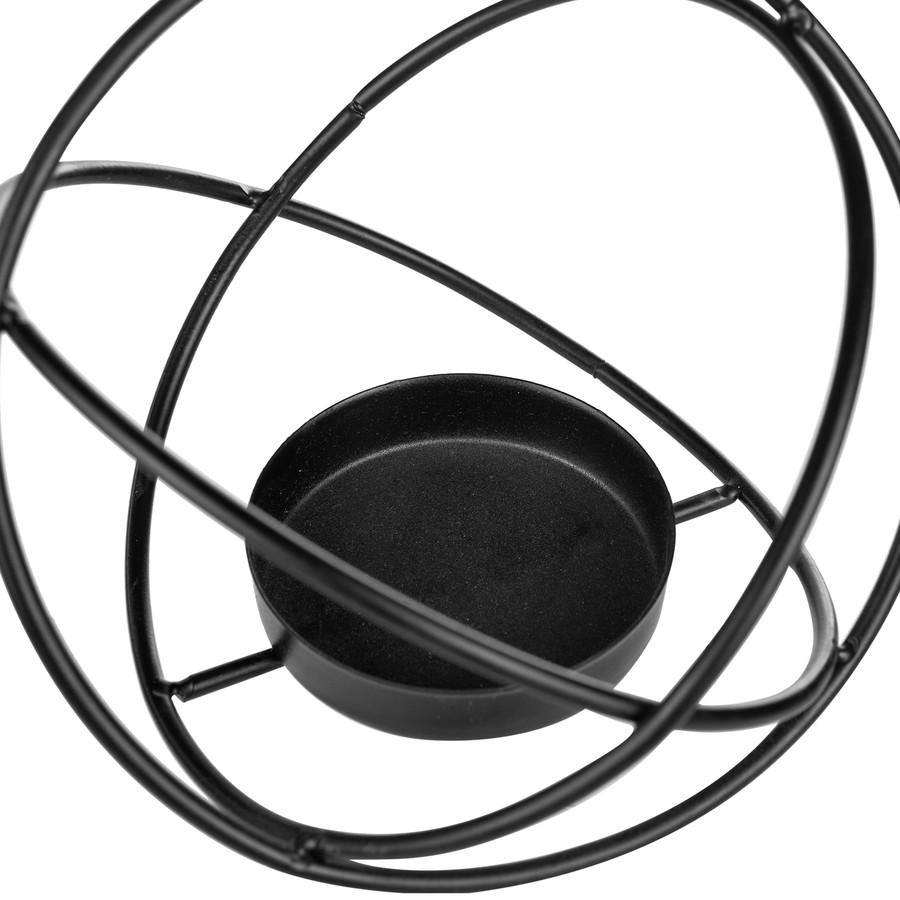 Karaca Home Geometri Yuvarlak Mumluk Siyah 12 cm