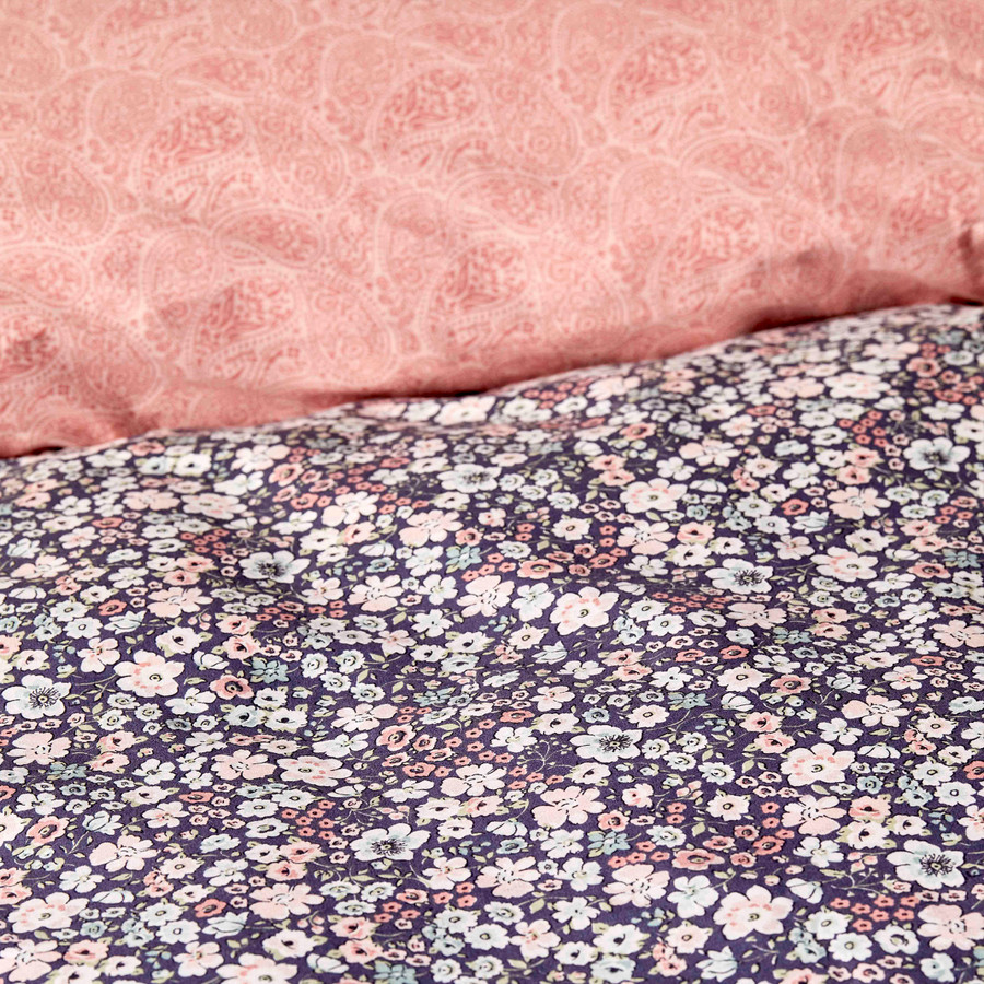 Karaca Home Flori Somon %100 Pamuk Çift Taraflı Tek Kişilik Nevresim Takımı