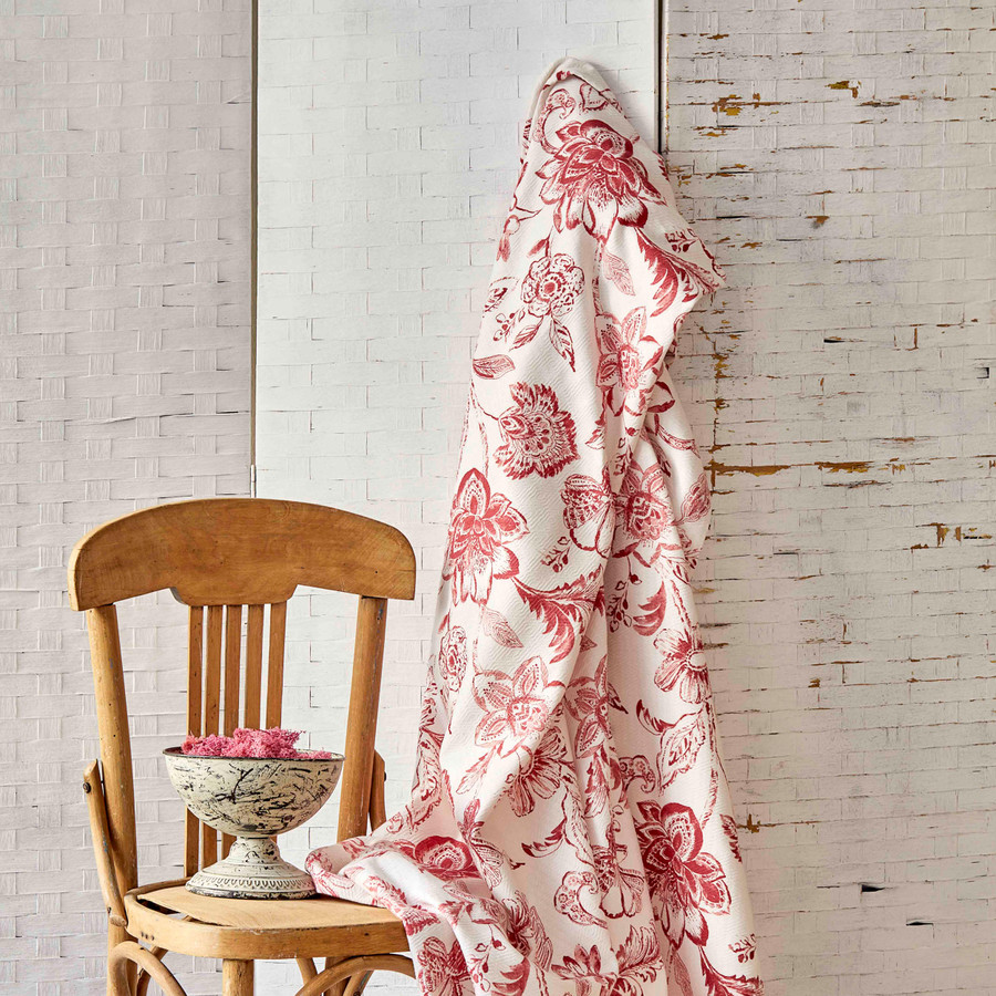 Karaca Home Odine Kırmızı Pamuk Çift Kişilik Desenli Pike