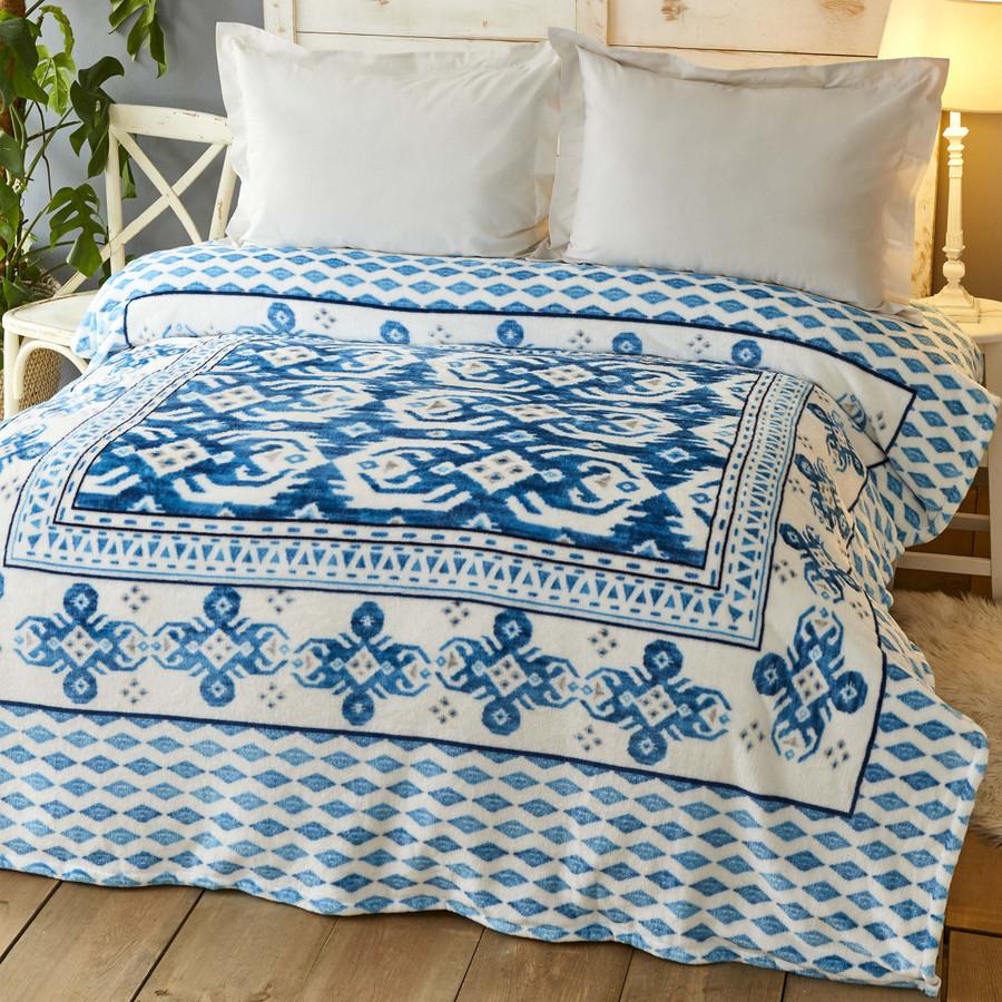 Karaca Home Neos Mavi Çift Kişilik Wellsoft Battaniye