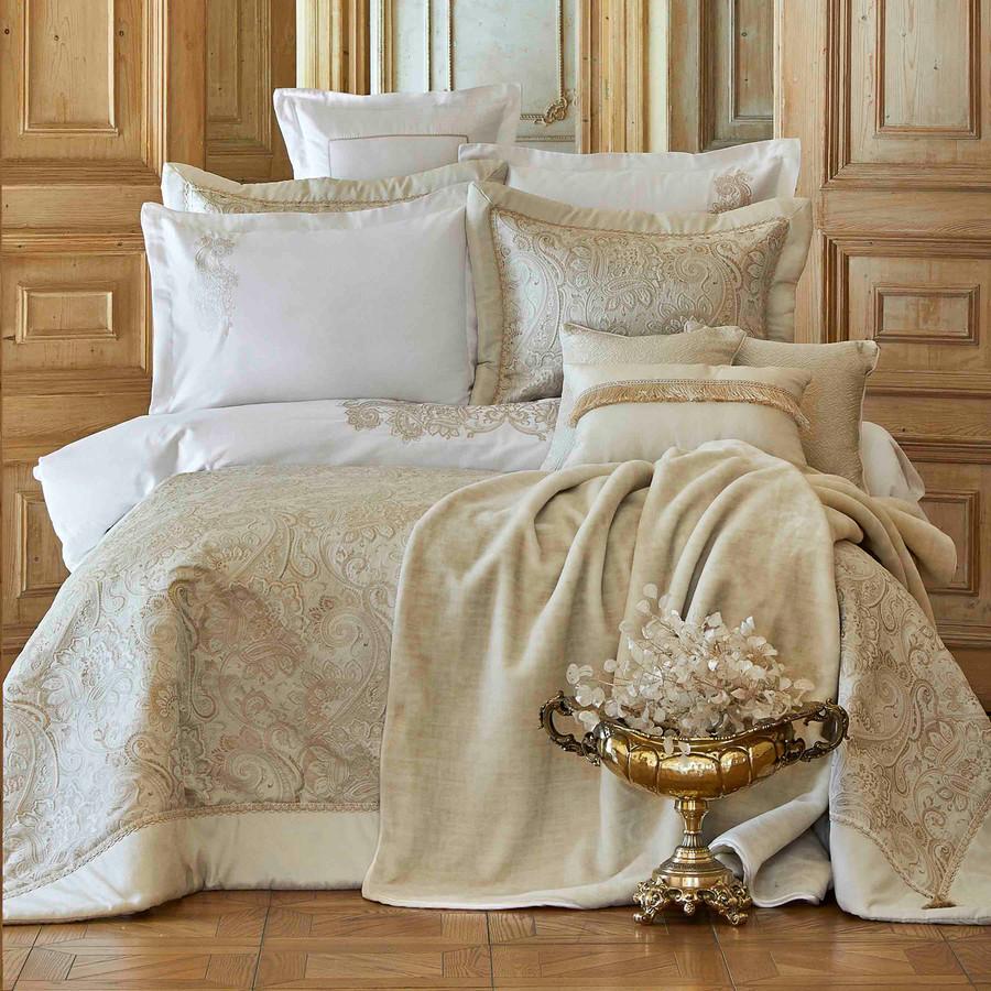 Karaca Home Venita Gold 6 Parça İpek Private Yatak Örtüsü