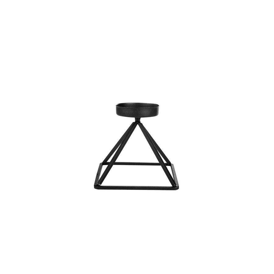 Karaca Home Geometri Mumluk Siyah 13x13cm