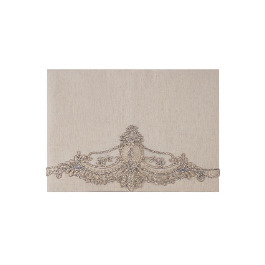 Karaca Home Candle Bej Dantelli Masa Örtüsü Peçete+Yüzük Set 160x260cm