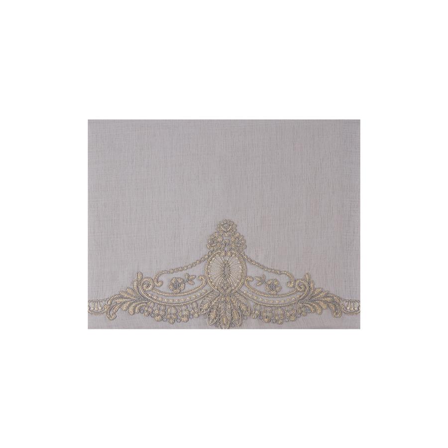 Karaca Home Candle Gri Dantelli Masa Örtüsü Peçete+Yüzük Set 160x260cm