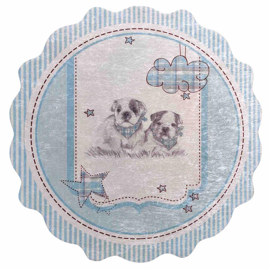 Karaca Home Circle Genç Doggy Baskılı Halı 100x100cm