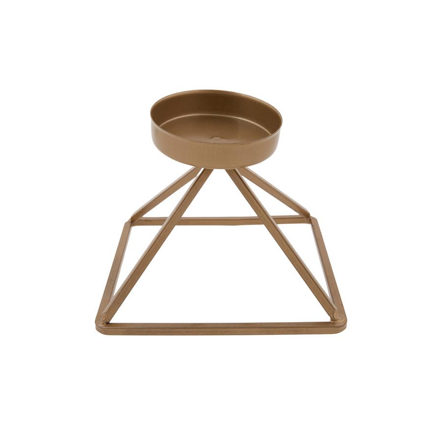 Karaca Home Geometri Mumluk Gold 13x13cm