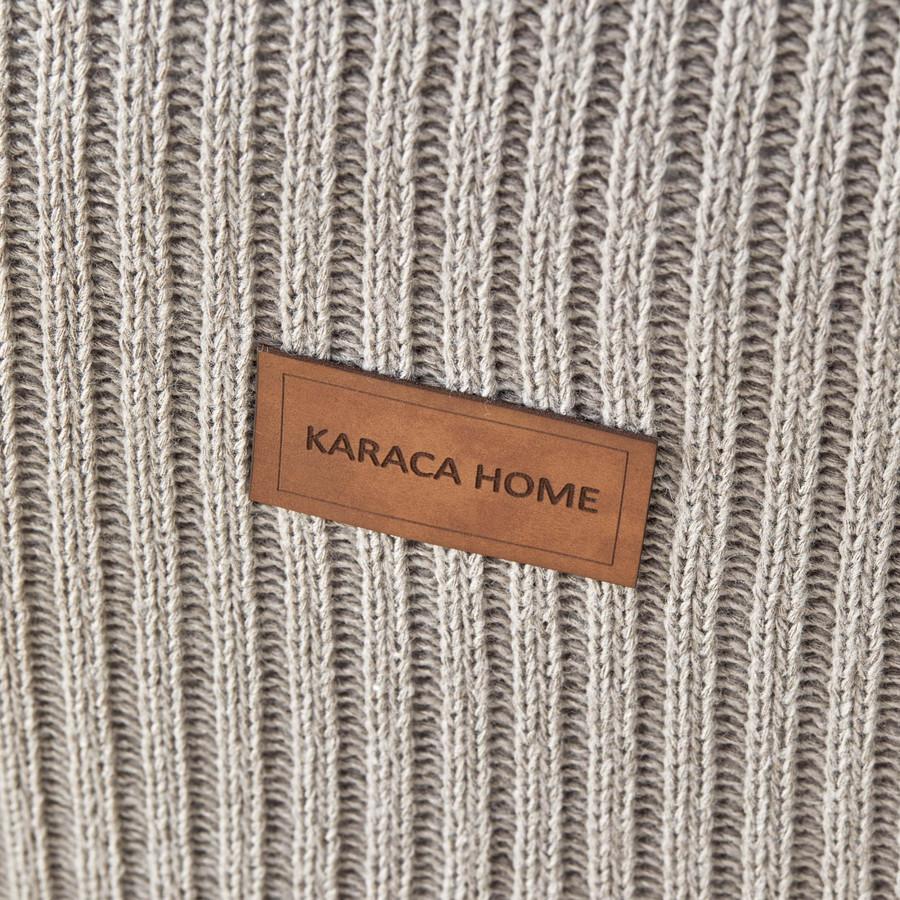 Karaca Home Coline Bej Çift Kişilik Triko Yatak Örtüsü Seti