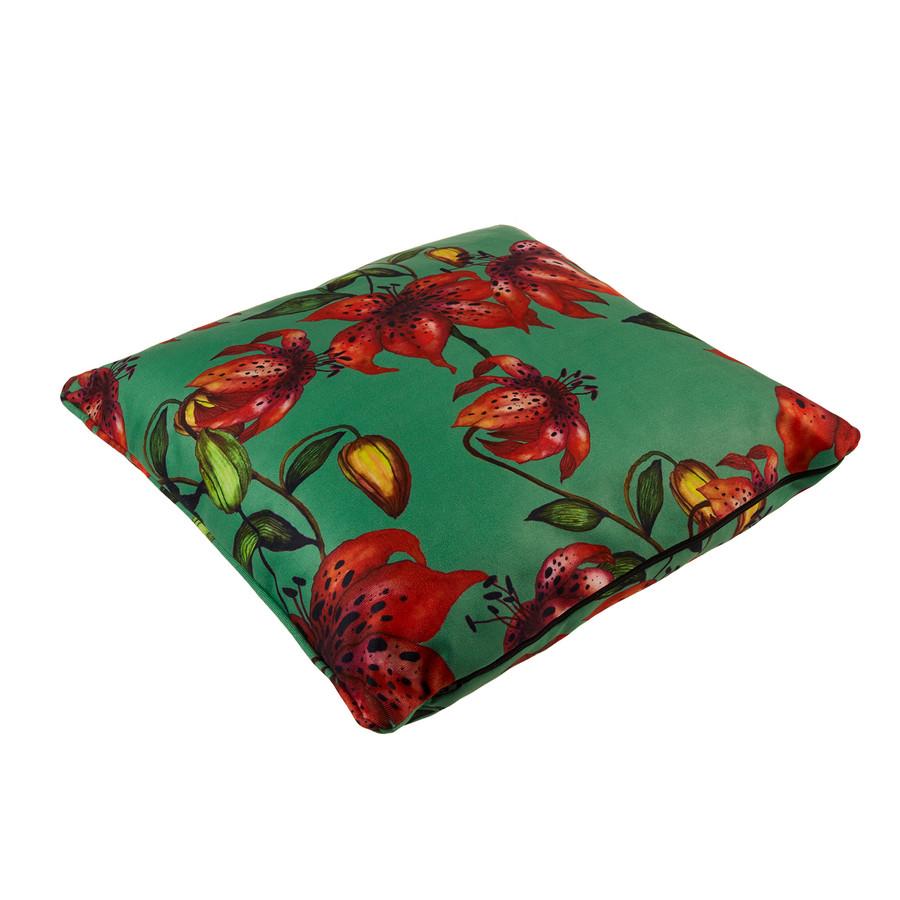 Karaca Home Floral Yeşil Dekoratif Yastık 45x45cm