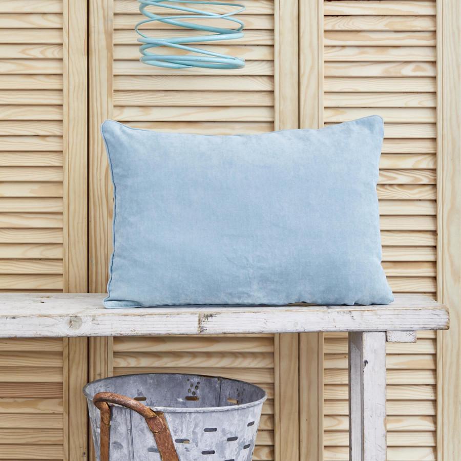 Karaca Home Dream Düz Mavi İç Dolgulu Kırlent 30x50 cm