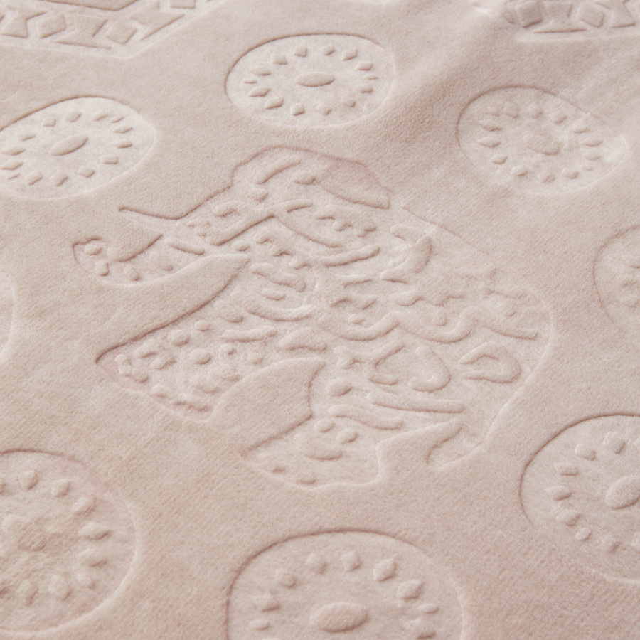 Karaca Home Elephant Pudra Çift Kişilik Soft Embosy Battaniye