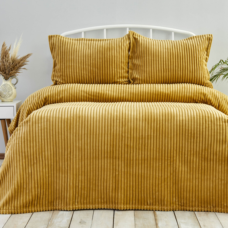 Karaca Home Joena Hardal Çift Kişilik Soft Yatak Örtüsü