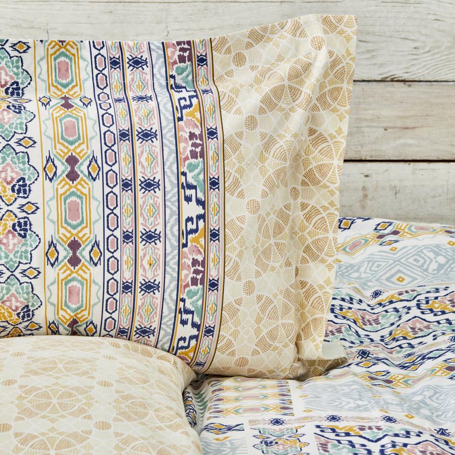 Karaca Home Milo Mavi Çift Kişilik Pamuk Nevresim Takımı