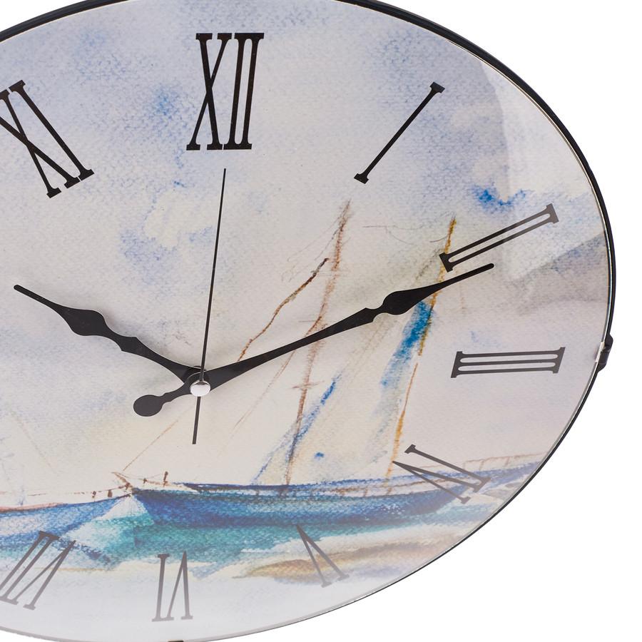 Karaca Home Sails Bombe Camlı Duvar Saati 40cm