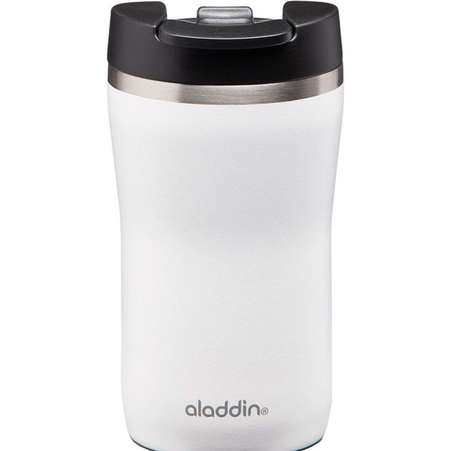 Aladdin Cafe Thermavac Leak-Lock Beyaz Paslanmaz Çelik El Termosu Kupa 0.25 Lt