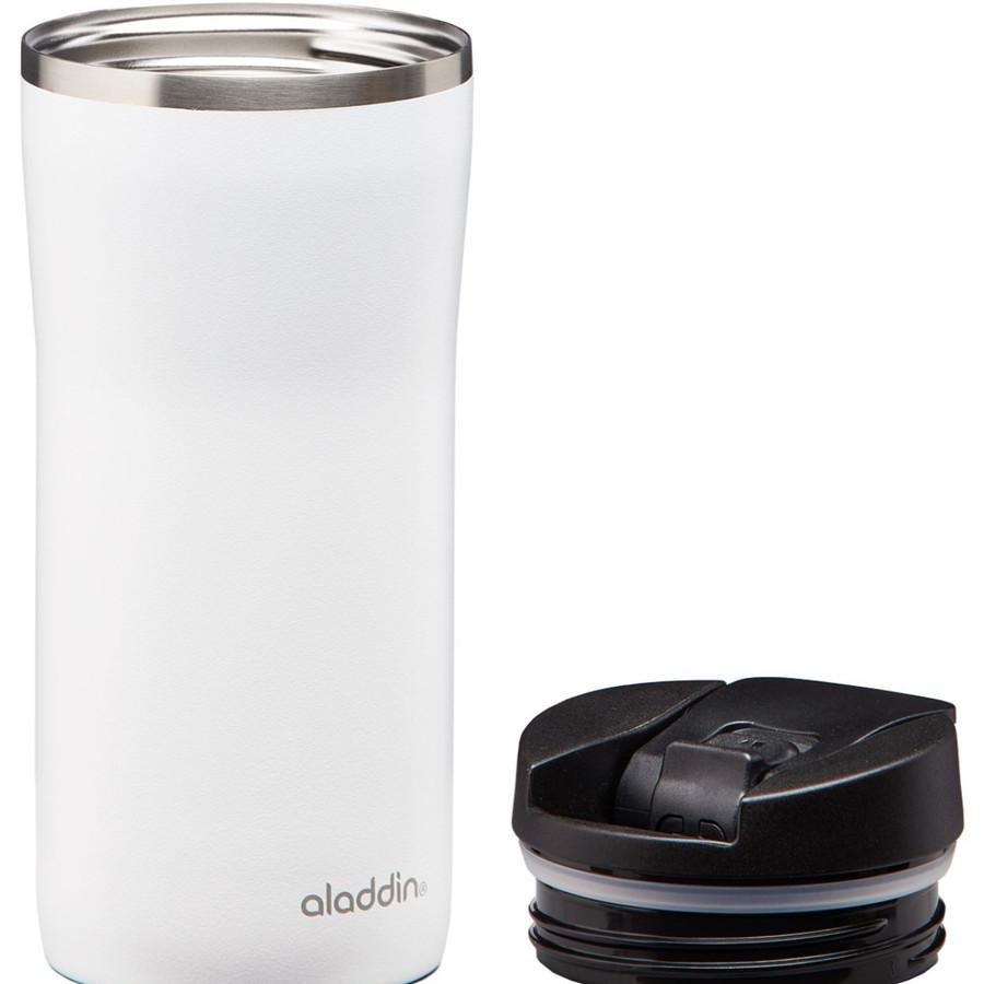 Aladdin Mocca Thermavac Leak-Lock Beyaz Çelik El Termosu Bardak 0,35 Lt