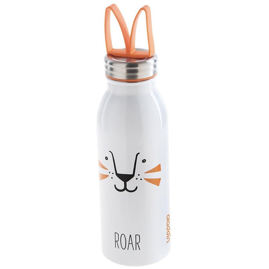 Aladdin Zoo Water Paslanmaz Çelik Soğuk Turuncu Beyaz Su El Termosu 0,43 Lt