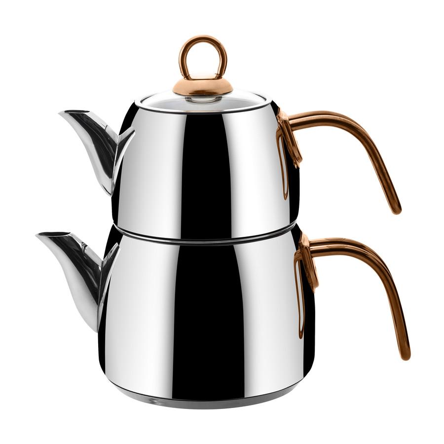Emsan Teatanyum (L) İndüksiyon Tabanlı Çaydanlık Takımı