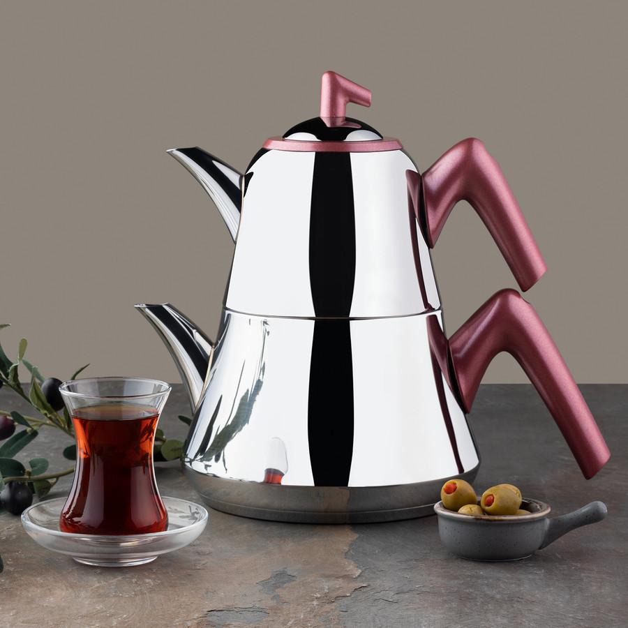 Emsan Harika İndüksiyon Tabanlı Çaydanlık Takımı Rose