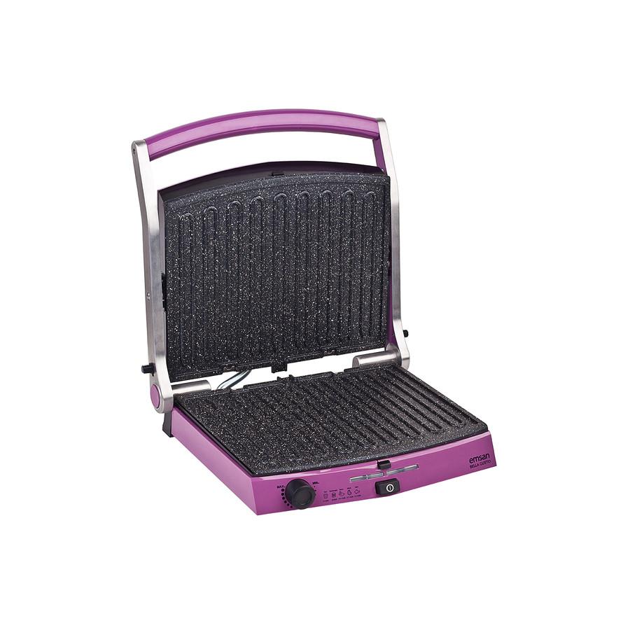Emsan Bella Gusto 6 Dilim Ekmek Kapasiteli Granit Tost Makinesi Violet