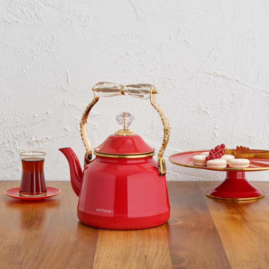 Emsan Troy Vintage İndüksiyon Tabanlı Kırmızı Kettle