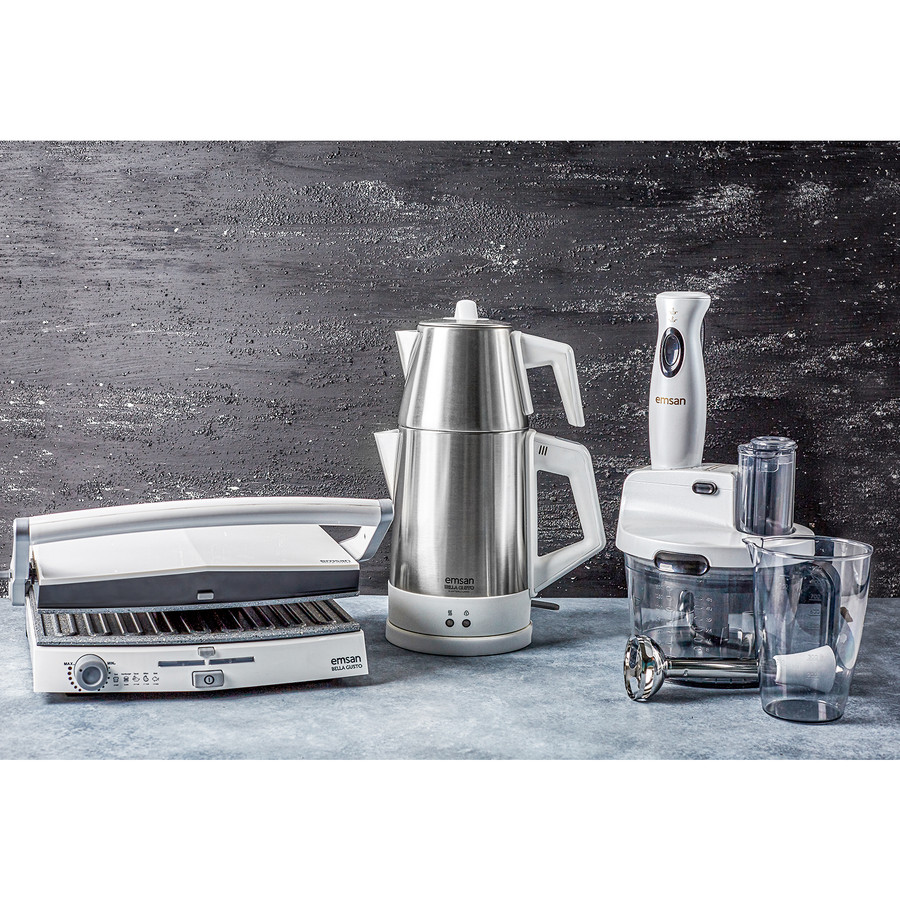 Emsan Bella Gusto 6 Dilim Ekmek Kapasiteli Granit Tost Makinesi Beyaz
