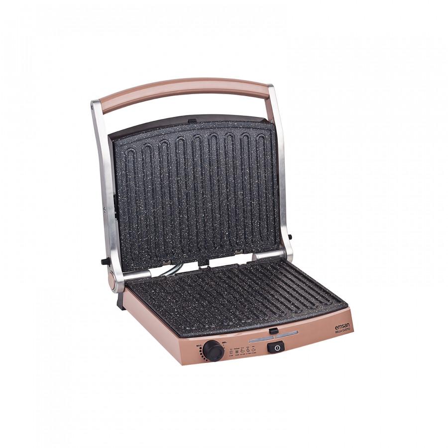 Emsan Bella Gusto 6 Dilim Ekmek Kapasiteli Granit Tost Makinesi Golden Pink