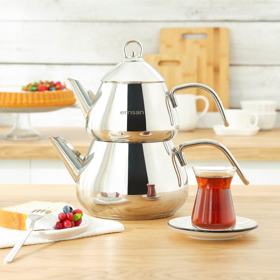 Emsan Antara İndüksiyon Tabanlı Çaydanlık Takımı