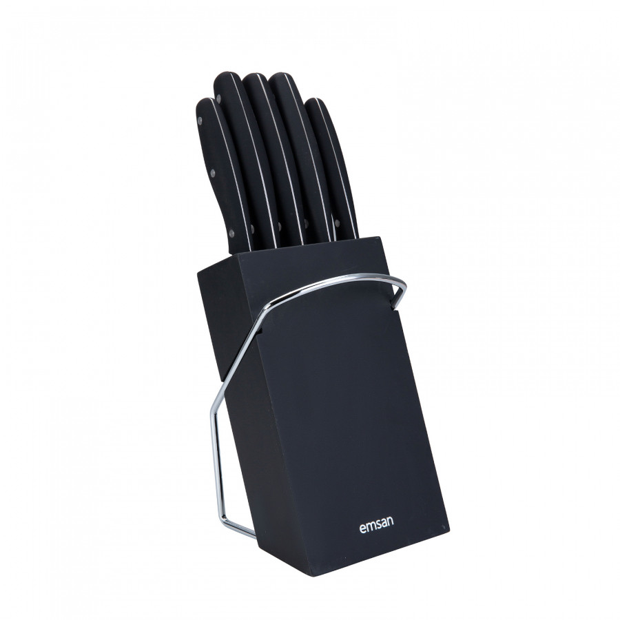 Emsan Yeni Mia 6 Parça Bıçak Seti Siyah