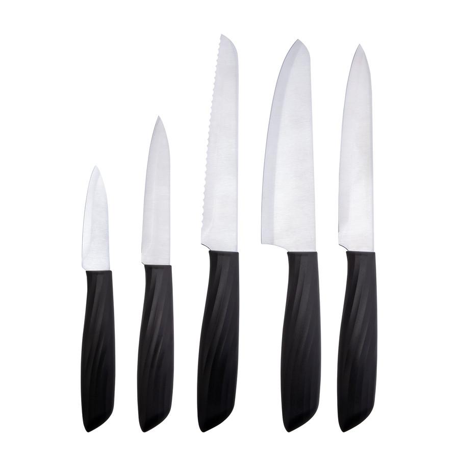 Emsan Kumsal Siyah 6 Parça Standlı Bıçak Seti