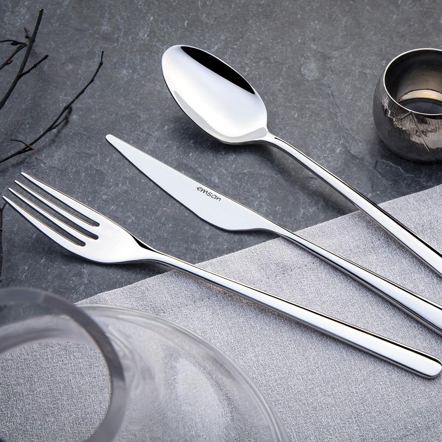 Emsan Elegance Bello 84 Parça 12 Kişilik Çatal Kaşık Bıçak Seti Lüks Kutulu