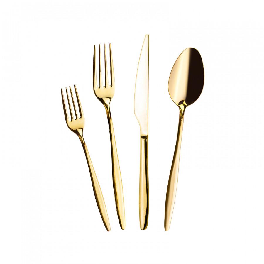 Emsan Goldinoks Gold 24 Parça 6 Kişilik Çatal Kaşık Bıçak Takımı