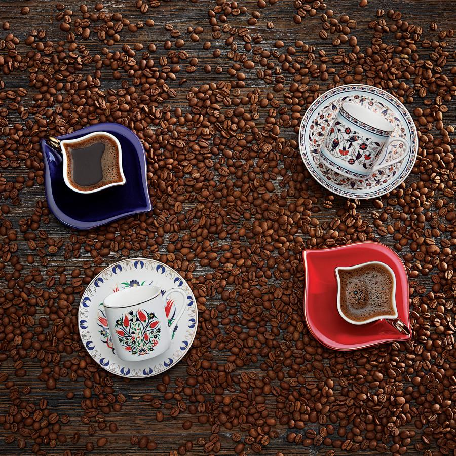 Emsan Sonsuz Aşk 2 Kişilik Kahve Fincanı Takımı Kobalt