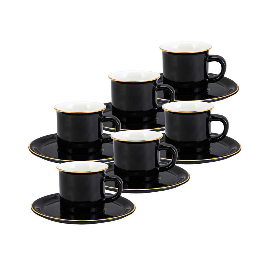 Emsan Kısmet 6 Kişilik Siyah Kahve Fincan Takımı