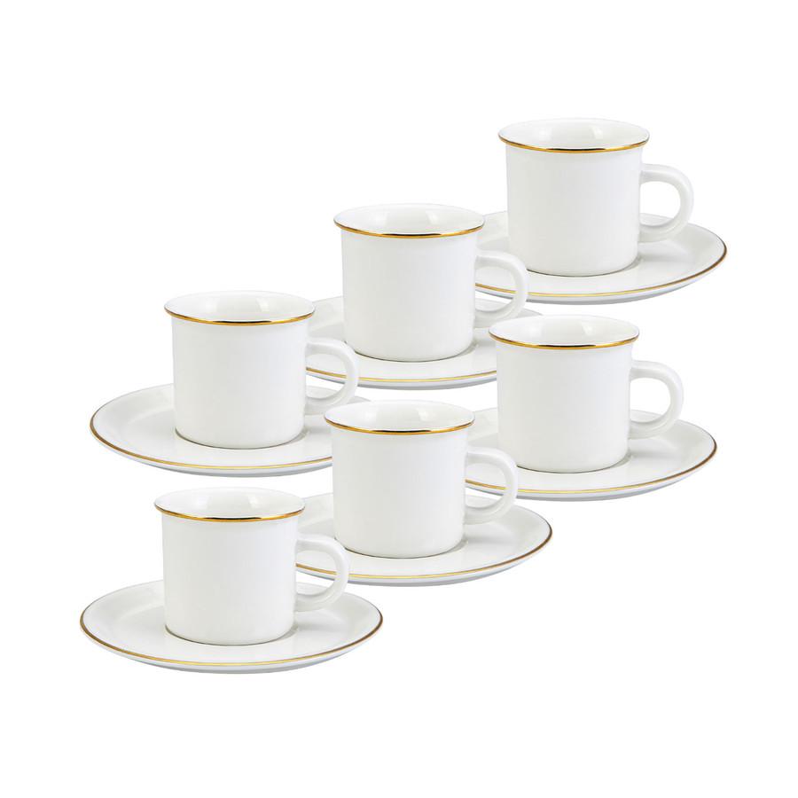 Emsan Kısmet 6 Kişilik Beyaz Kahve Fincan Takımı
