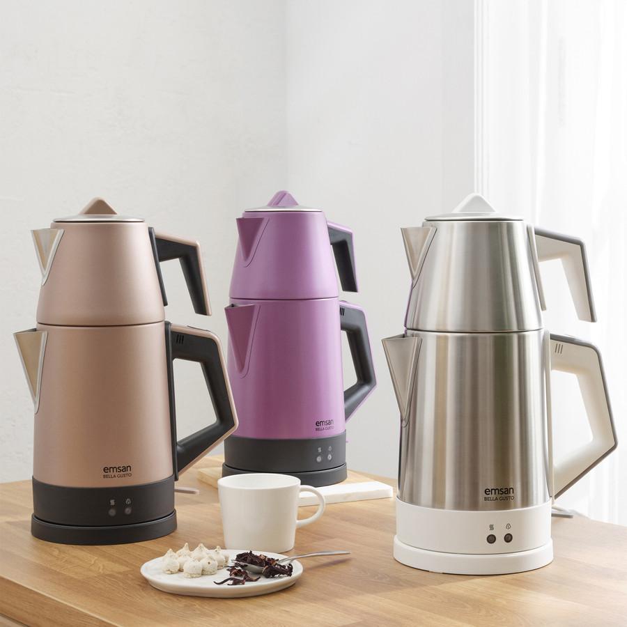 Emsan Bella Gusto Susuz Çalışma Emniyetli Elektrikli Çay Makinesi Violet