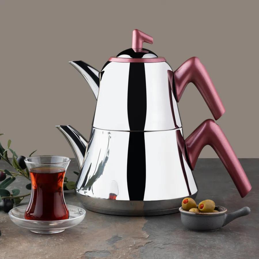 Emsan Harika İndüksiyon Tabanlı Çaydanlık Takımı Kırmızı