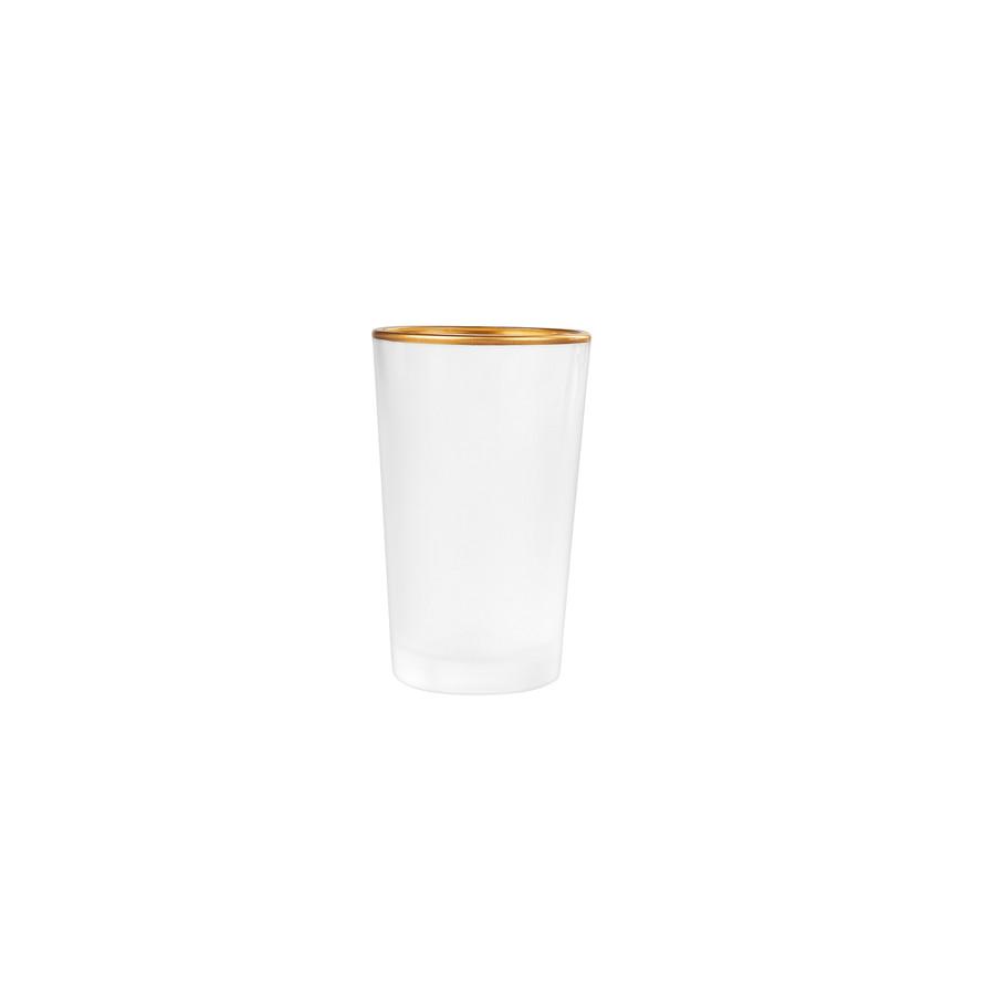 Emsan Firuze Alanya 6lı Beyaz Gold Kahve Yanı Su Bardağı