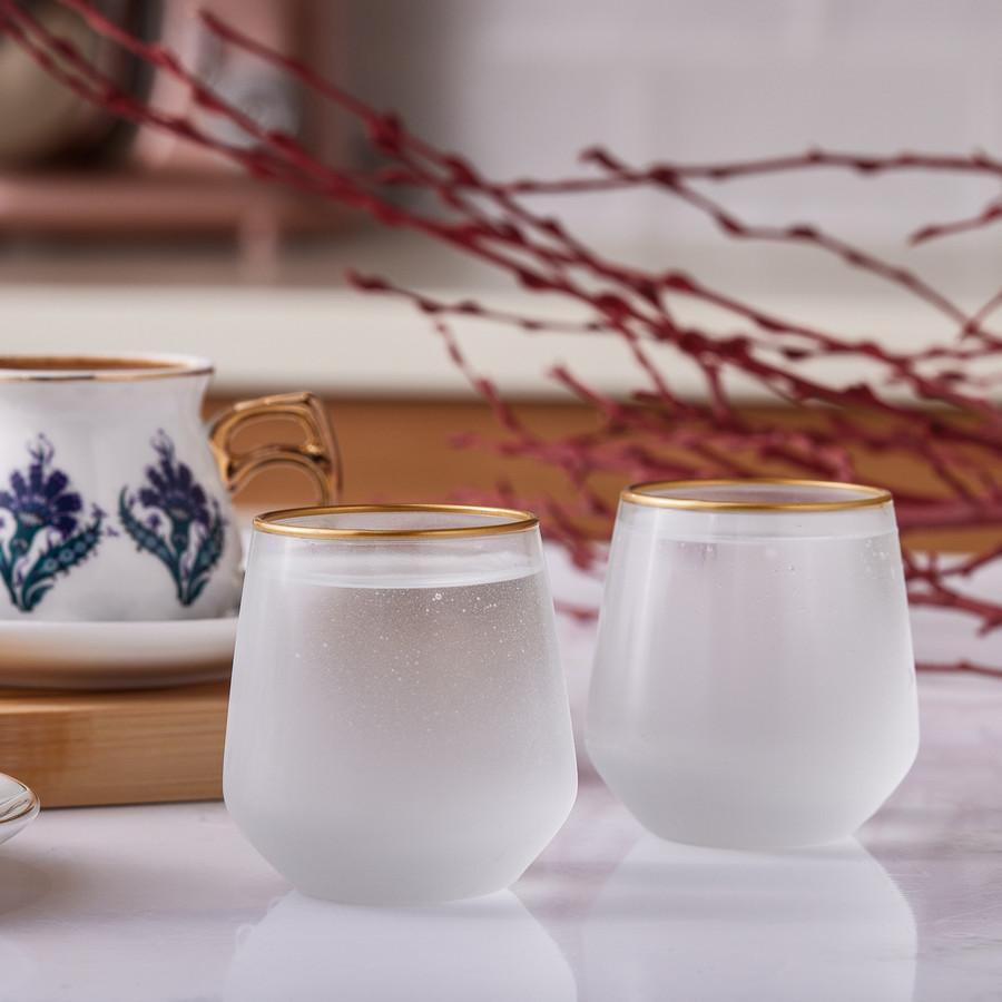 Emsan Firuze Allegra Beyaz 6lı Kahve Yanı Su Bardağı