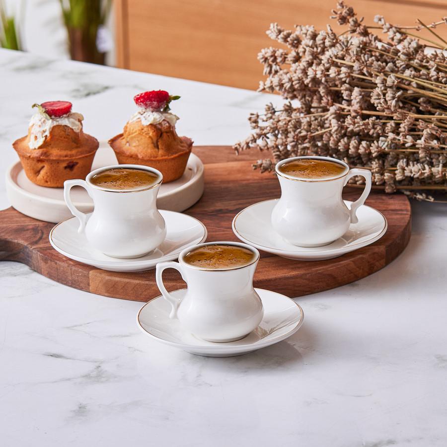 Emsan Lilyum 6 Kişilik Kahve Fincan Takımı