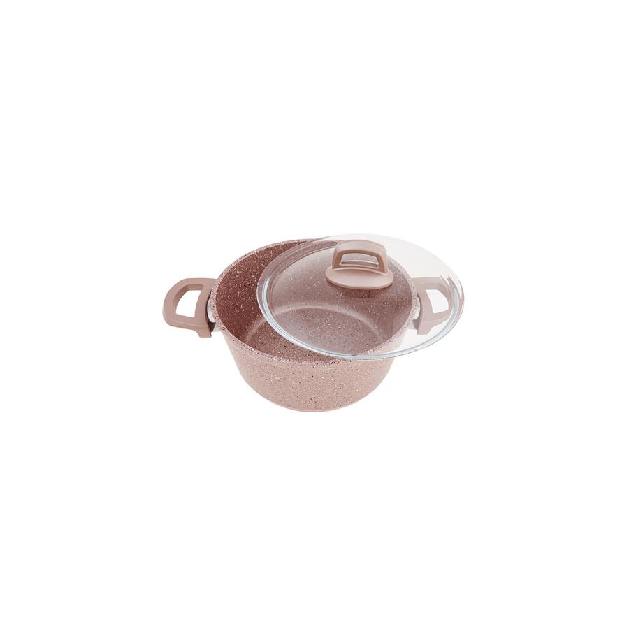 Emsan Premium-S Pro Gold Pink 7 Parça Granit Tencere Seti